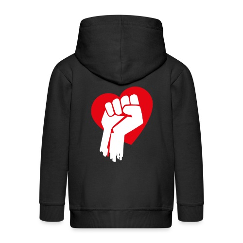 Love Fist 1 - Kinder Premium Kapuzenjacke