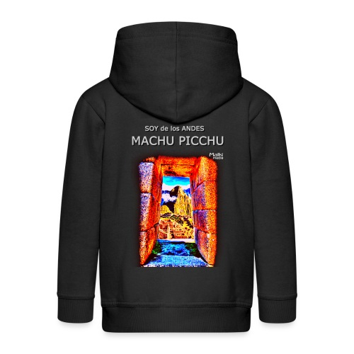SOJA de los ANDES - Machu Picchu I - Chaqueta con capucha premium niño