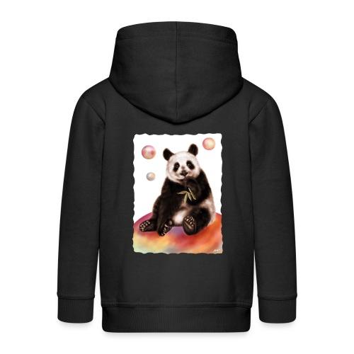 Panda World - Felpa con zip Premium per bambini