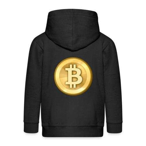 Bitcoin Gold Coin - Kids' Premium Zip Hoodie