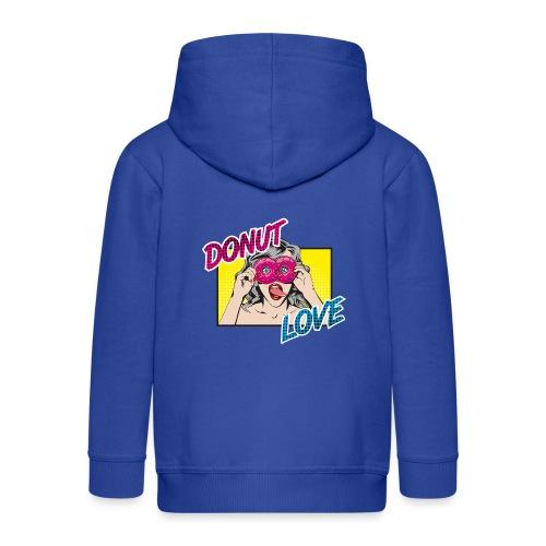 Popart - Donut Love - Zunge - Süßigkeit - Kinder Premium Kapuzenjacke