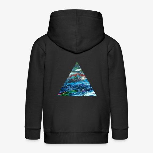 Trójkąt galaktyki - Rozpinana bluza dziecięca z kapturem Premium