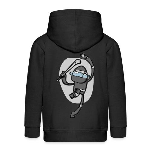 ninja - Kids' Premium Zip Hoodie