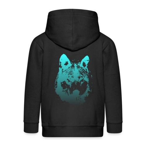 illustration tete de loup - Veste à capuche Premium Enfant
