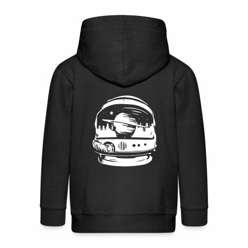 Woodspace Astronaut - Rozpinana bluza dziecięca z kapturem Premium