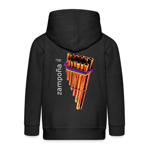 Zampoña clara - Kids' Premium Hooded Jacket