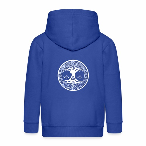 celtic tree - Chaqueta con capucha premium niño