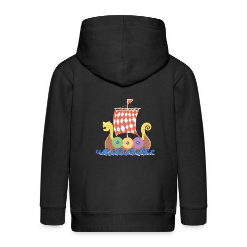 Wikinger Drachenboot - Kinder Premium Kapuzenjacke