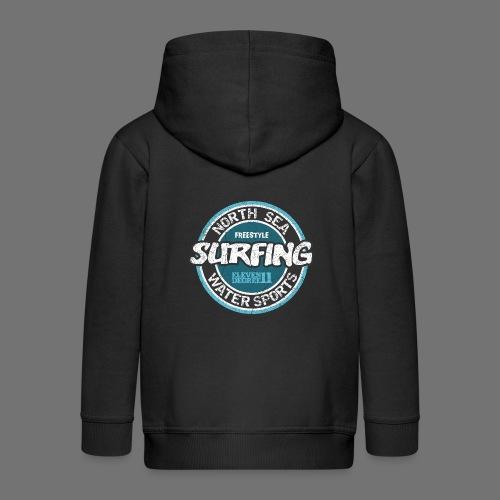 North Sea Surfing (oldstyle) - Kids' Premium Zip Hoodie