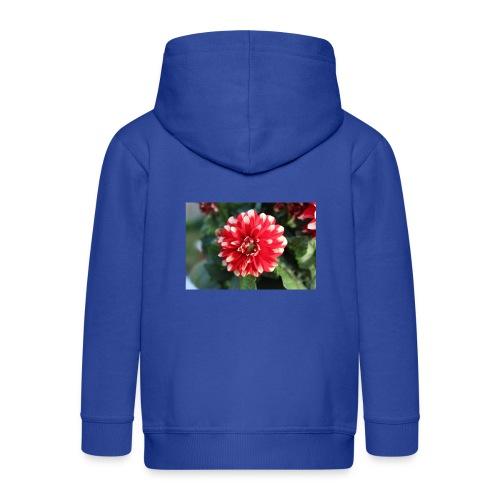 rode bloem afdruk/print - Kinderen Premium jas met capuchon