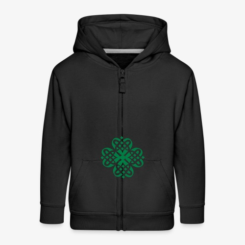 Shamrock Celtic knot decoration patjila - Kids' Premium Zip Hoodie