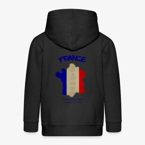 France Marseillaise mit Flagge - Kinder Premium Kapuzenjacke