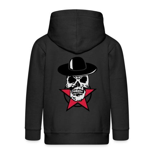 tete mort chapeau skull dead head cercle - Veste à capuche Premium Enfant