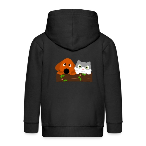 Hund & Katz - Kinder Premium Kapuzenjacke