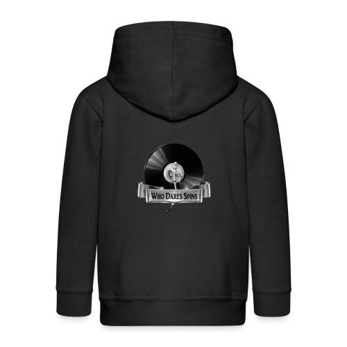 WHO DARES SPINS - Kids' Premium Hooded Jacket