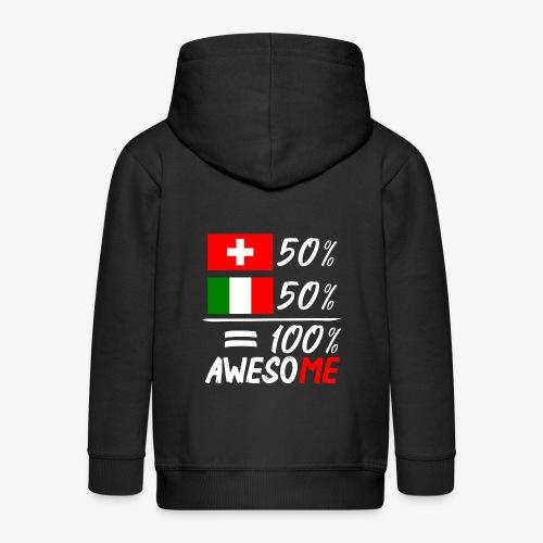 50% Schweiz 50% Italien - Kinder Premium Kapuzenjacke