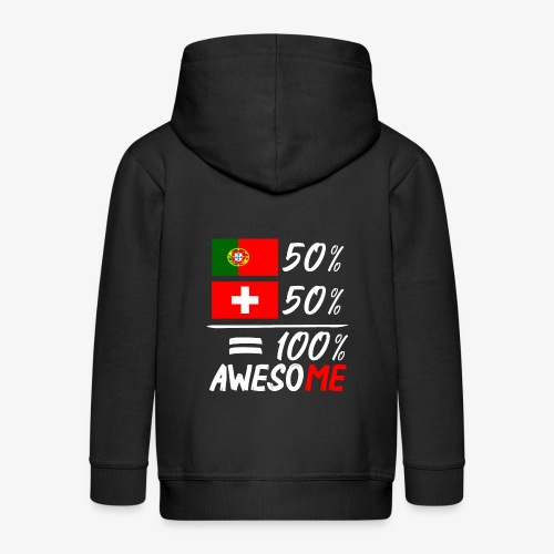 50% Portugal 50% Schweiz - Kinder Premium Kapuzenjacke