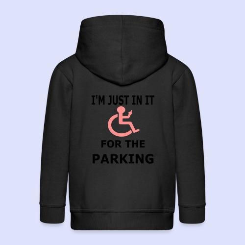 Ik zit in de rolstoel voor de parkeerplaatsen - Kinderen Premium jas met capuchon