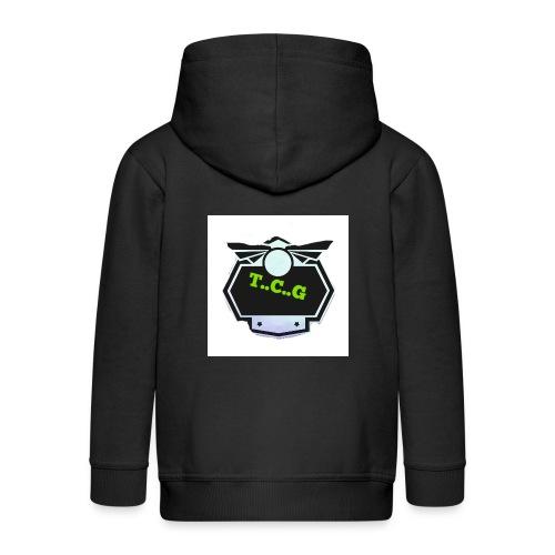 Cool gamer logo - Kids' Premium Zip Hoodie