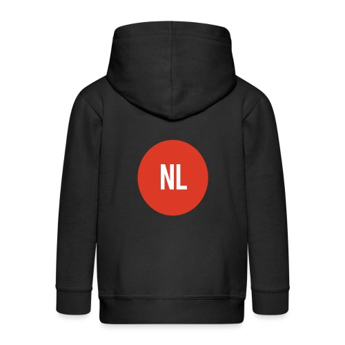 NL logo - Kinderen Premium jas met capuchon