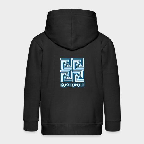 Labyrinth (Labyrinth). - Kids' Premium Zip Hoodie