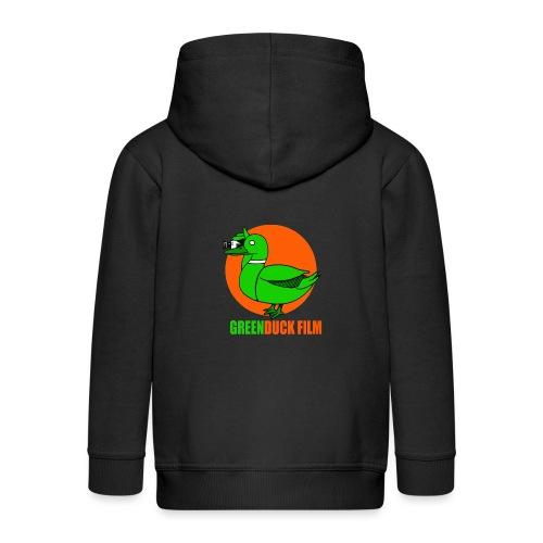 Greenduck Film Orange Sun Logo - Premium hættejakke til børn