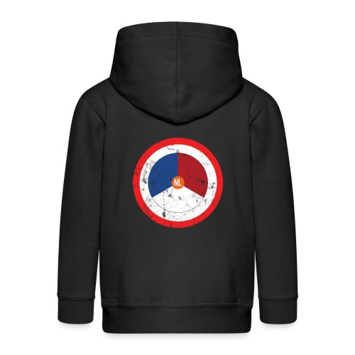 NL washed logo - Kinderen Premium jas met capuchon