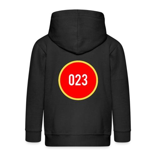 023 logo 2 - Kinderen Premium jas met capuchon