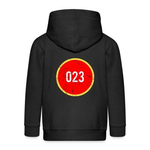 023 logo 2 washed regio Haarlem - Kinderen Premium jas met capuchon