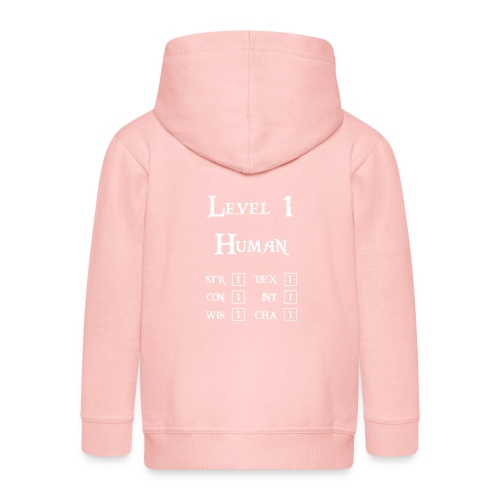 Level 1 Human - Wit - Kinderen Premium jas met capuchon