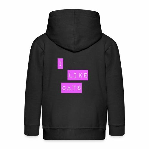 I like cats - Kids' Premium Zip Hoodie