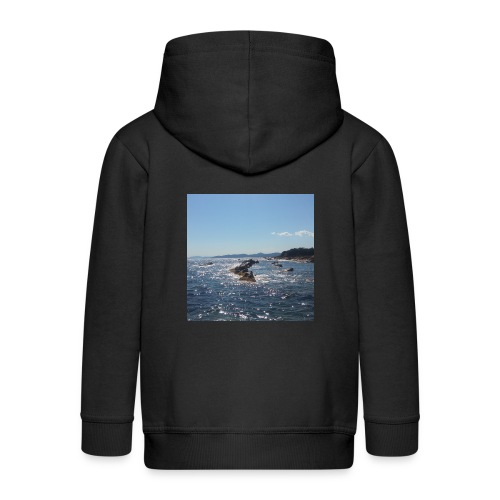 Mer avec roches - Veste à capuche Premium Enfant