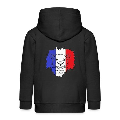 Lion supporter France - Veste à capuche Premium Enfant