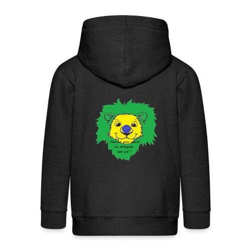 Lion supporter Brésil - Veste à capuche Premium Enfant