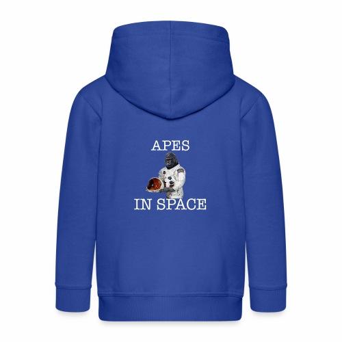 Apes in Space - Kids' Premium Zip Hoodie