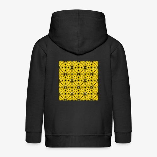 Design motifs jaune et noir - Veste à capuche Premium Enfant