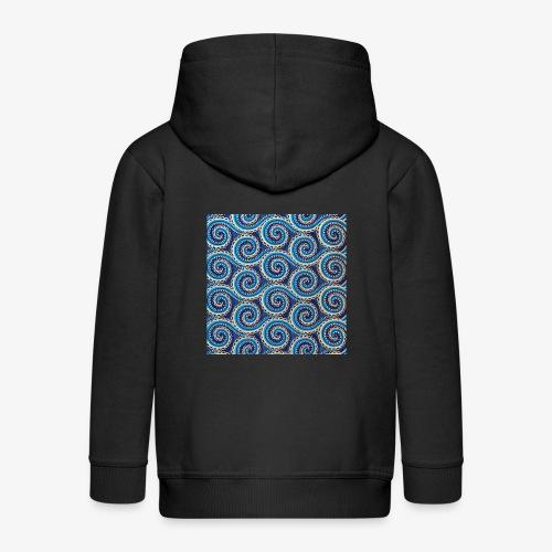 Spirales au motif bleu - Veste à capuche Premium Enfant