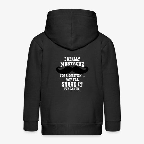 Funny Mustache T Shirt - Kids' Premium Zip Hoodie