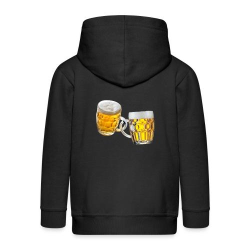 Boccali di birra - Felpa con zip Premium per bambini