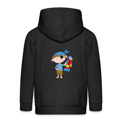 Kleiner Pirat mit Papagei - Kinder Premium Kapuzenjacke