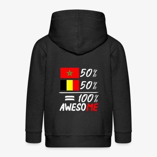 50%Marokko 50% Belgien - Kinder Premium Kapuzenjacke