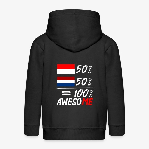 50% Nederland 50% Indonesië - Kinder Premium Kapuzenjacke