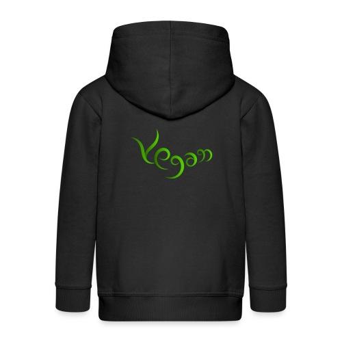 Vegaani käsinkirjoitettu design - Lasten premium hupparitakki