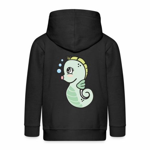 Seepferdchen grün - Kinder Premium Kapuzenjacke