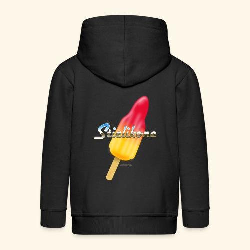 Eis am Stiel T-Shirt Rakete Stielikone - Kinder Premium Kapuzenjacke