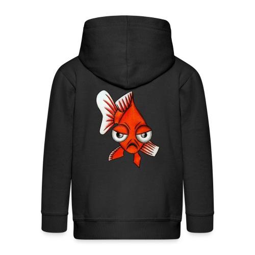 Angry Fish - Veste à capuche Premium Enfant