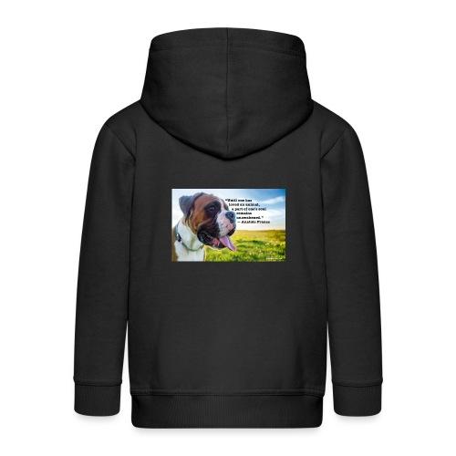 Until one has loved an animal - Kids' Premium Zip Hoodie