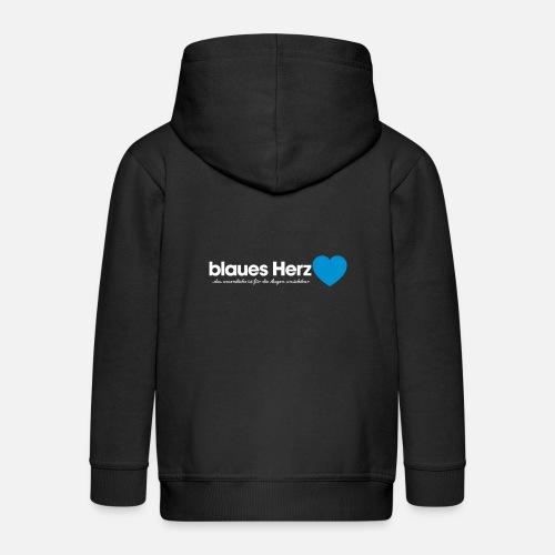 blaues Herz - Kinder Premium Kapuzenjacke