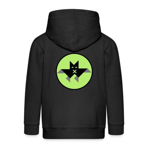 Vampir green - Kinder Premium Kapuzenjacke