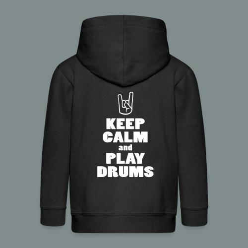 Keep calm and play drums - Veste à capuche Premium Enfant